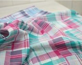 Lovely colors Duplex printed Check Gauze