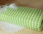 Green Gingham Multi Functions Arched  DIY BOX, 23.6x9cm set of 4, U1050