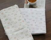 Each A Yard, Cafe Latte Linen blended set of 2, U1401