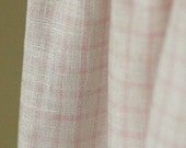 Over 3 yards, THE Pure Linen Pastel Pink Check, U1471