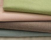 1mm Check Washing 4 colors Cotton, Fat Quarter Set of 4, U1339