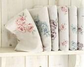 Romantic Shabby Floral Linen Fat Eighth Set of 6, U1070