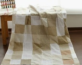 5 yards, Neat Patch Work Linen Blended, U1957