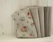 Chic Natural Linen Fat Eighth Set of 5, U1125