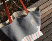 SALE, The Marin II, Linen and Cotton Natural Tote Bag