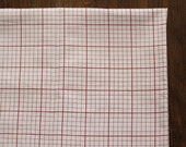 Sale, A Yard of RED Graph Linen Blended, U2244