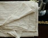 2 Yards of Linen Oxford White Oatmeal Cotton, U2500