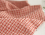 3 Yards of Pink Checks Washing cotton, U2880