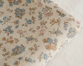 3 Yards of Blue Natural Floral Linen Wide 148cm, U2913