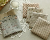 3 Cuts of Antique Style Slip and 4 Notes on linen blended WIDE 158cm, U2923