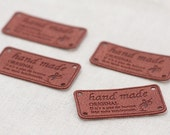 Brown Leather Style Label for handmader, U3099