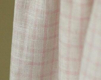 Fine, THE Pure Linen Pastel Pink Check, U1471