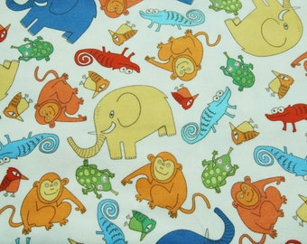 GO on the Zoo, Animal friends on Cotton Flannel less 3 yards, U1502