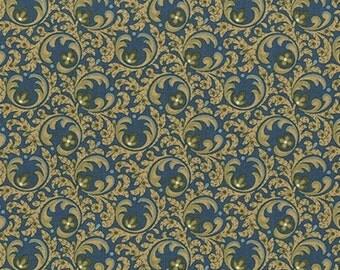 Antique Leaves on Cotton, U1624
