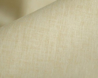 One cut of 70cm, Vintage Beige Linen Blended, U1738