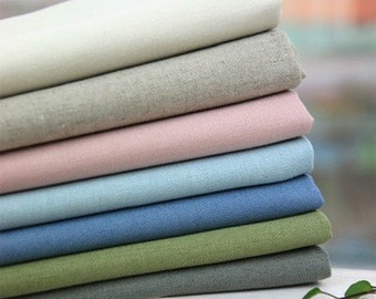 70cmx45cm Soft colored Linen blended set of 7, U1744