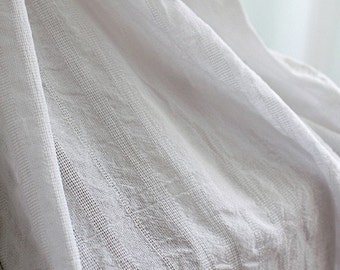One cut of 150cm of Pure Linen White, U1747