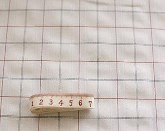 One cut, 160cm of Red Blue Check White Linen Duplex LAMINATing Waterproof 145cm WIDE, U1476
