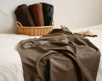 Special sale, Soft Lamb Leather Fabric in BROWN, U1020