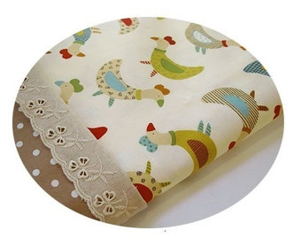 3 yards, Lovely Colorful Chickens Cotton, U2232