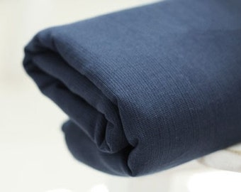 4 Yards of Chic Navy Linen, U1143
