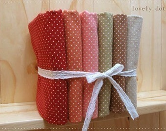 A Yard, One colour, SALE Lovely Polka Dots Linen, U1004