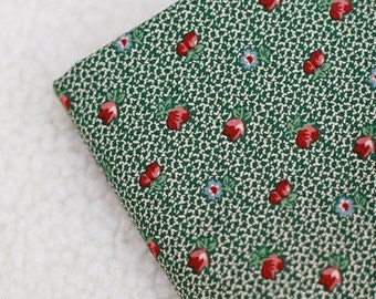 Patch Cotton No.10, Green Floral Cotton A Yard, U2132