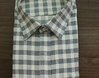 Neat Stitch-Style Check Cotton WIDE 160cm, U1696