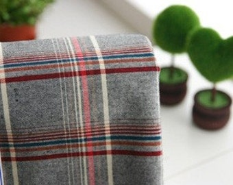 Neat Check on Vintage style Gray Cotton WIDE 140cm, U2219