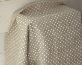 White Dots on Linen Blended, U1036