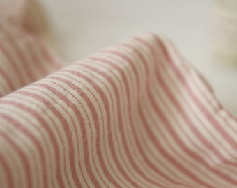 A Yard of Pink STRIPE Washing Cotton, U2249
