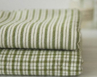 A Yard Olive STRIPE Washing Cotton, U2251
