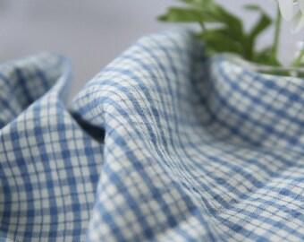A Yard, BLUE CHECK Washing Cotton, U2286