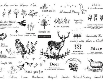2 sheets of We are in Nature, Fabric Stickers, U2334