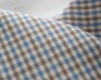 A Yard of Blue and Brown 5mm Check Cotton, U2355