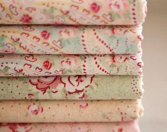 COMEBACK, Floral and paisley cotton Fat Quarters set of 6, U2442