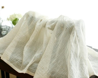 Natural Ivory Vintage Style Gauze cotton, U2596