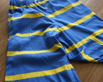 Blue n Yellow Stripe DAIMARU Cotton WIDE 190cm, U2612