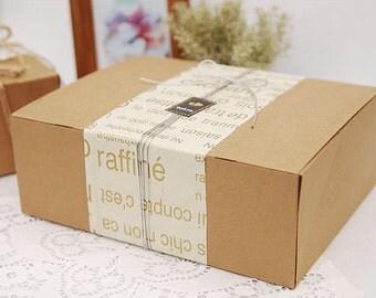 BULK, Natural Kraft BOX, 24 x 18cm, 12 boxes , U2634