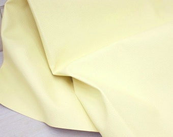 Cream Ivory Leather Fabric One cut, U2722