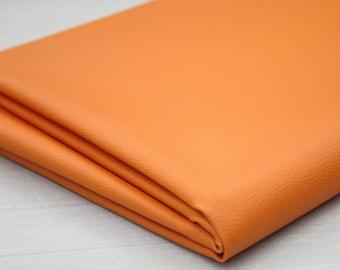 Orange Leather Fabric 140cm, U2724