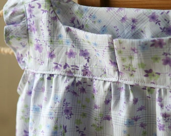 A Yard of Wild Petit Floral on Violet Cotton, U2750