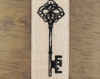 SALE, Antique Style Key Stamp, U2752