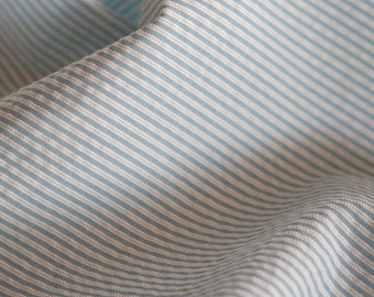 3.5 Yards of Lovely Water Colored Blue Stripe Cotton WIDE 142cm, U2774