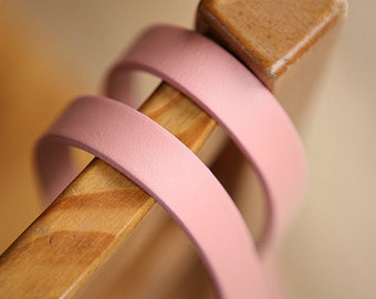 Real PINK Leather Strap 15mm Width, 64.5cm, A Pair, U2824