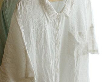 2.5 Yards of White PURE Linen, WIDE 150cm, U2835