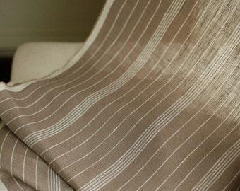 GREAT Vintage Style Stripe Linen WIDE 134cm, U2854