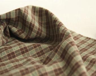 GreenBrown Checks Washing cotton, U2882