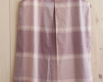 3 yards of Pink Violet Check Cotton, U2895