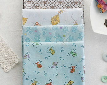 Cute Cotton fat Quarter Set of 5, U2992